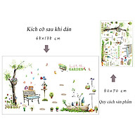 Decal dán tường chất liệu PVC loại 1 dày dặn, sắc nét, trang trí phòng cho bé, quán cafe- Một góc công viên- mã sp XL7093 thumbnail