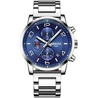 Đồng hồ thời trang công sở nam NIBOSI chính hãng NI2328.03 (Phụ kiện thời trang) fullbox, chống nước - chạy full 6 kim, mặt kính Mineral, dây hợp kim cao cấp không gỉ thumbnail