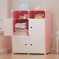 Tủ nhựa lắp ghép nhỏ để phòng ngủ dễ thương thumbnail