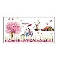 Decal dán chân tường tình nhân hồng có sẵn keo CT45 thumbnail