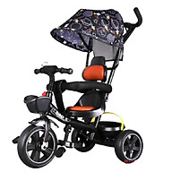 Xe đẩy 3 bánh 310 có mái che, giỏ, để chân kiêm xe đạp 3in1 yên tựa da thumbnail