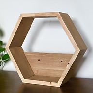 Kệ lục giác gỗ tự nhiên treo tường - 1 kệ thumbnail