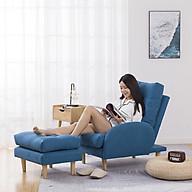 Ghế sofa thư giãn, Ghế lười kèm đôn chất liệu vải, có điều chỉnh 3 cấp độ, có thể tháo ra vệ sinh thumbnail