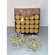 Nến bơ 100 viên (tặng kèm 2 chân đế nến vàng fa lê) - TL237 thumbnail