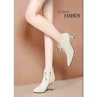 Giày boot cổ lửng,giày boot da đế nhọn cao 5cm B146 thumbnail