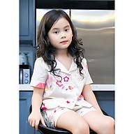 Bộ mặc nhà Pijama bé gái họa tiết bông hoa thumbnail