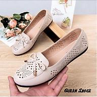 Giày lười nữ - giày búp bê nữ cắt lỗ laze cao cấp siêu êm thoáng mát thumbnail