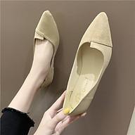 Giày Búp Bê Đế Bệt, Mũi Nhọn Phối Màu Thời Tranh Dành Cho Nữ GN20 thumbnail