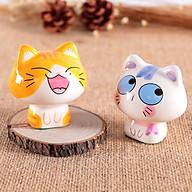 Combo Tượng Trang Trí Gốm Sứ Mèo Kute (Màu Ngẫu Nhiên) thumbnail