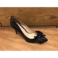 075-Giày cao gót nữ 7cm đính nơ thời trang thumbnail
