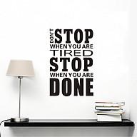 Decal dán tường Don t Stop (66 x 43 cm) thumbnail