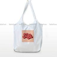Túi vải canvas đeo vai tiện ích đi học, đi du lịch in chữ- Funky thumbnail