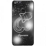 Ốp lưng dành cho Honor 7X mẫu Cung hoàng đạo Aquarius (đen) thumbnail