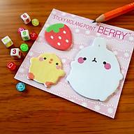 Giấy Ghi Chú Note Phân Trang Molang & Piu Piu Tặng Kèm Bút Chì - Berry thumbnail