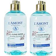 Combo 2 Nước Tẩy Trang Tươi Mát Sáng Da All Clean Water Micellar Fomula Refreshing Lamont En Provence (250ml x 2 Chai) thumbnail