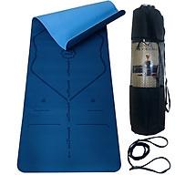 Thảm Yoga Định Tuyến TPE 2 Lớp Màu Xanh CoBan - Chọn Size - Chính Hãng miDoctor (Kèm Túi Đựng Thảm Tập Yoga + Dây Buộc Thảm Tập Yoga) thumbnail