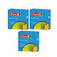 Bộ 3 hộp bao cao su True-X PerformaX kéo dài thời gian hộp 3 cái thumbnail