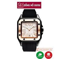 Đồng hồ nữ đeo tay dây cao su Guou mặt vuông chính hãng chống nước tuyệt đối 8154 thumbnail