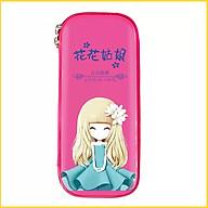 hộp viết hộp bút hình công chúa in hình 3D sắc nét màu hồng màu tím E86 thumbnail