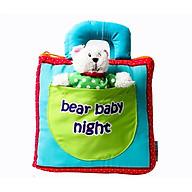 SÁch vải - Cuốn sách vải Bear baby night thumbnail