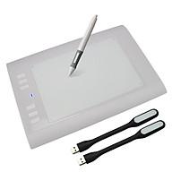 Bảng Vẽ Đồ Họa Cảm Ứng Điện Tử H58L Tặng Kèm 02 Đèn LED USB Cao Cấp AZONE thumbnail