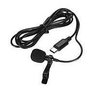 Mini Lapel Lavalier Clip-on Condenser Microphone Mic With Type-C Plug For Android Smartphone For Samsung S8 Huawei thumbnail