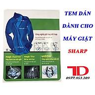 Tem dán dành cho máy giặt SHARP thumbnail