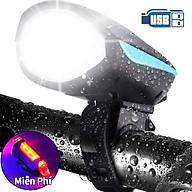 Đèn pin xe đạp siêu sáng có còi, sạc điện usb, chống nước tiện lợi tặng đèn xe đạp cảnh báo an toàn thumbnail