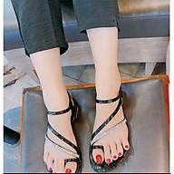Dép sandal nữ xỏ ngón đính đá chuẩn thời trang thumbnail