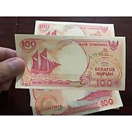 Tiền cổ Indonesia, 100 Rupiah thuận buồm xuôi gió 1992, phong thủy sưu tầm thumbnail