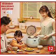Nồi cơm điện đa năng DFB-B40T1 nấu cơm, cháo, sup, làm bánh,... dung tích 4L tặng ổ cắm 3 chấu thumbnail