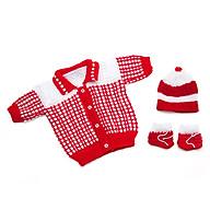 1 Bộ áo, nón và vớ tay bằng len cho trẻ sơ sinh ấm áp thumbnail