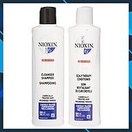 Dầu gội xả Nioxin 6 Chemically Treated Hair Progressed Thinning Cho tóc uốn duỗi tẩy có dấu hiệu thưa rụng Mỹ 300ml thumbnail