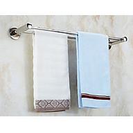 Thanh đôi inox treo khăn nhà tắm 70cm bằng inox 304 không gỉ, bền bỉ thumbnail