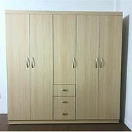 Tủ áo gỗ MDF 5 cánh phủ melamin 2mx2m thumbnail