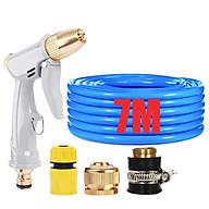 Bộ dây vòi xịt nước tưới cây rửa xe,tăng áp 3 lần, loại 7-10m (cút nhựa nối đồng nhựa) 206846 thumbnail