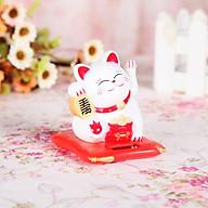 Mèo Thần Tài Vẫy Tay Tự Động - Xài Pin (Màu Ngẫu Nhiên) Trưng Bày Cửa Hàng, Quán Ăn, Địa Điểm Kinh Doanh - Mang Lại May Mắn thumbnail