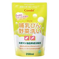 Túi Dung Dịch Rửa Bình Sữa Và Rau Quả Từ Dầu Cọ Combi (250ml) thumbnail