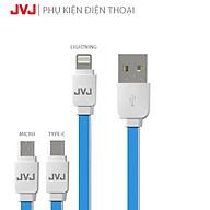 Cáp sạc nhanh JVJ SA-21 Lightning Micro USB Type-C cho các dòng máy iPhone, Android thumbnail