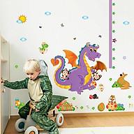 Decal dán tường trang trí phòng ngủ, lớp mầm non- Khủng long tím- mã sp DSK9101 thumbnail