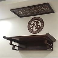 Bàn thờ treo tường gỗ sồi , phun mầu nâu gỗ , sản phẩm có nhiều kích thước ( tặng kèm tấm chống ám khói và chữ trang trí chữ phúc hán) BH308 thumbnail
