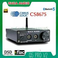DAC SUCA Q5 PRO - Bộ giải mã âm thanh chất lượng cao 24bit, bluetooth 5.0 - Hàng chính hãng thumbnail