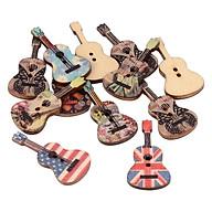 100 Chiếc Sáng Tạo Đàn Guitar Gỗ 2 Lỗ Nút Sổ Lưu Cardmaking DIY thumbnail