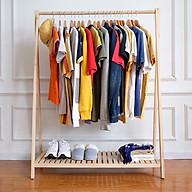 Cây treo quần áo bằng gỗ sơn bóng PU chống mốc chống mọt thumbnail