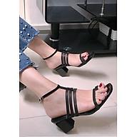 Giày sandal đế vuông 4 dây xỏ ngón S358 thumbnail