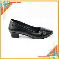 Giày công sở-giày da nữ cao cấp da bò cao cấp siêu êm chân Dáng gót trụ 3cm, thiết kế thanh lịch, trang nhã CS155 thumbnail
