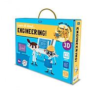 Bộ xếp hình mô hình giấy Kỹ sư tương lai hãng Sassi Junior 3D modeling LEARN ALL ABOUT... ENGINEERING thumbnail