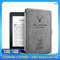 Combo Máy Đọc Sách Kindle Paperwhite 4 Gen 10 (8GB - Màu Đen - Hàng nhập khẩu) và Bao Da WELL BEGUN thumbnail