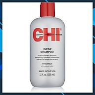 Dầu gội CHI Infra Moisture Therapy shampoo siêu mượt cho tóc khô hư tổn (xám) của Mỹ 355ml thumbnail