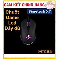 CHUỘT GAMING SIMETECH X7 LED RGB, Hàng Chính Hãng bảo hành 6 tháng thumbnail